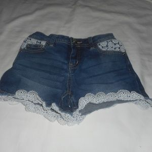 Justice Stretchy Lace Shorts  12 Slim